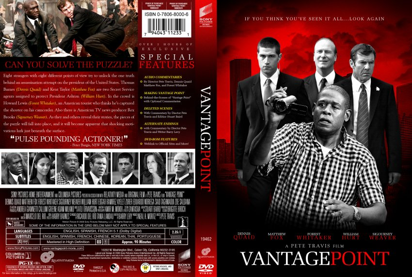 Vantage Point - Movie DVD Custom Covers - VantagePoint Z ...