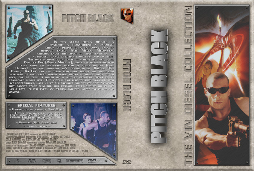 Pitch Black - Movie DVD Custom Covers - Vin Diesel - Pitch ...