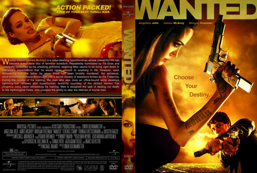 Wanted - Movie DVD Custom Covers - Wanted Cstm DD :: DVD ...