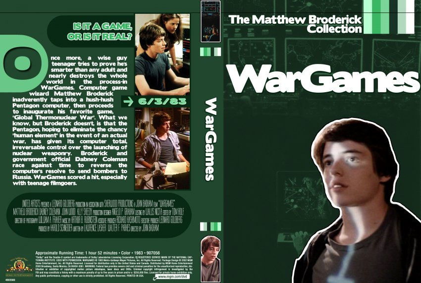 Wargames Movie Dvd Custom Covers Wargames Dvd Covers