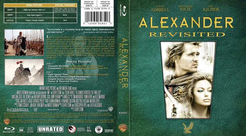 alexander revisited movie bluray custom covers