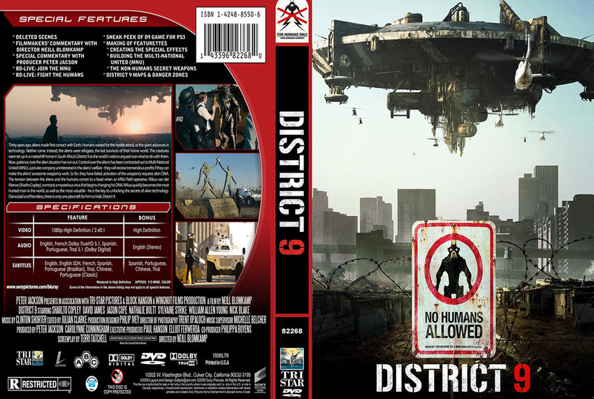 district 9 movie dvd custom covers district91 dvd