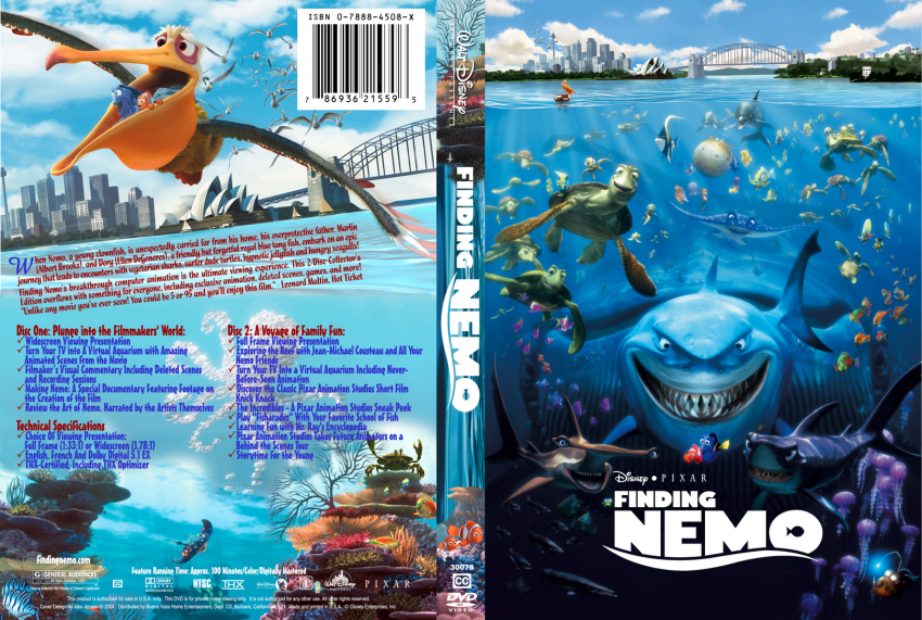 Finding Nemo - Movie DVD Custom Covers - findingnemo ...
