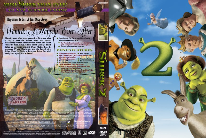 ... DVD Custom Covers - shrek2 template2 barcodeless3 copy :: DVD Covers