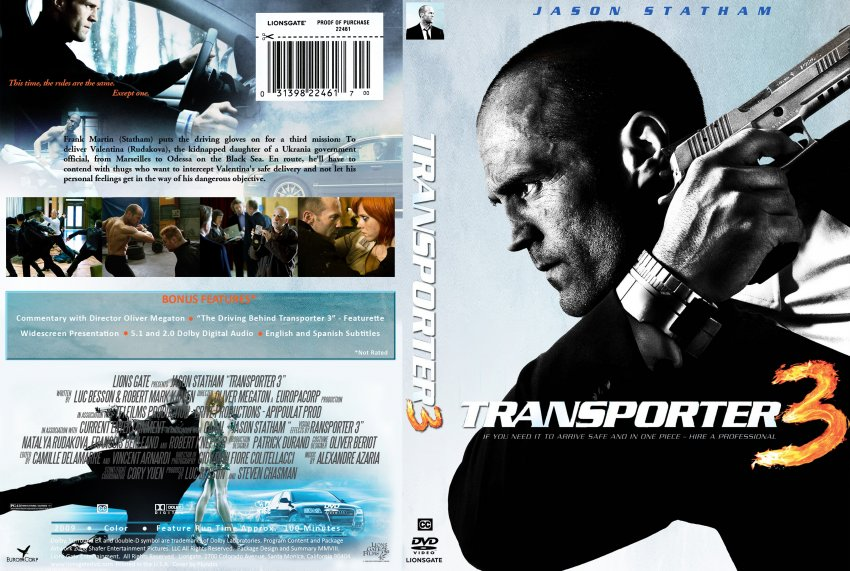transporter 3 movie dvd custom covers transporter three dvd covers. Black Bedroom Furniture Sets. Home Design Ideas