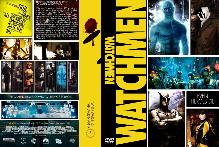 Watchmen - Movie DVD Custom Covers - watchmen4 :: DVD Covers