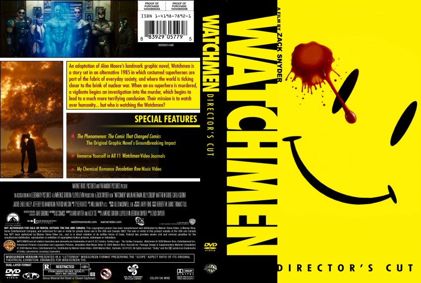 Watchmen - Movie DVD Custom Covers - watchmenDIRECTOR ...