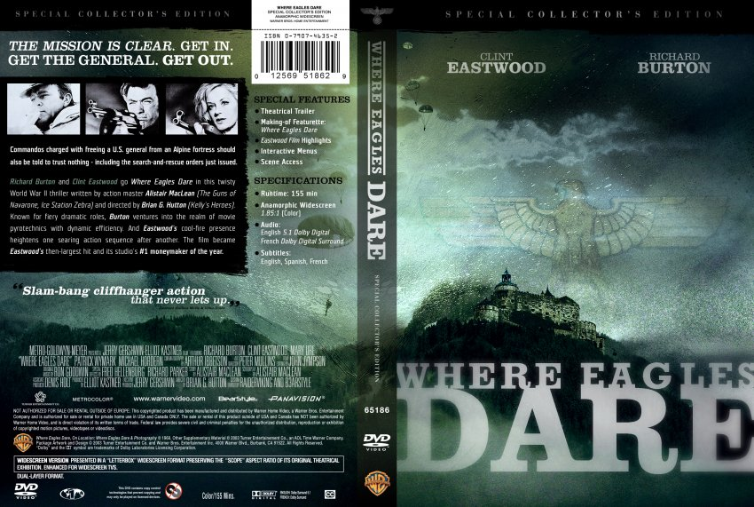Where Eagles Dare DVD-Cover