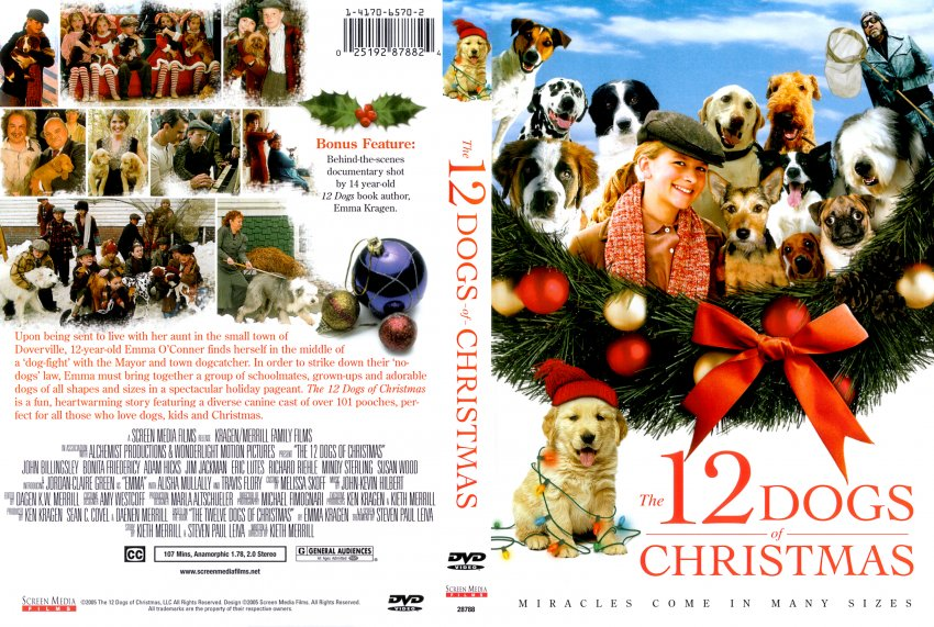 12 Dogs Of Christmas.The 12 Dogs Of Christmas Movie Dvd Scanned Covers