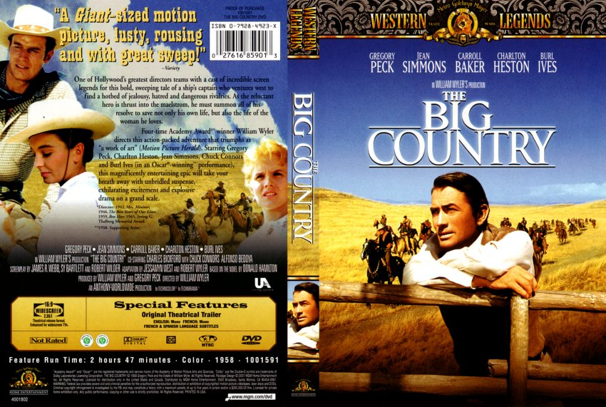 The big country - Movie DVD Scanned Covers - 10577The Big ...