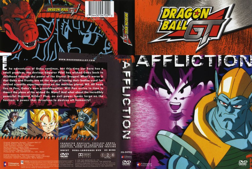 Dragonball GT 01 Affliction - Movie DVD Scanned Covers - 1070DBGT ...