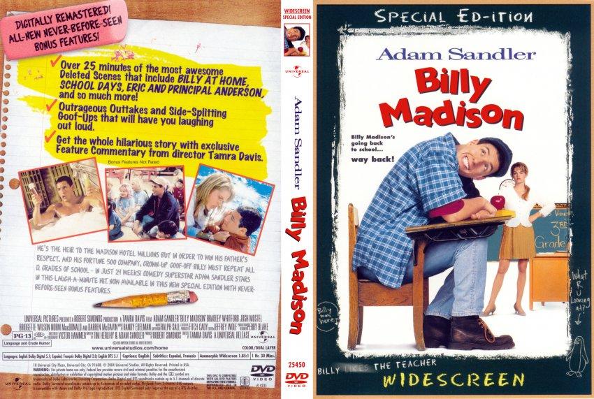 Billy Madison SE - Movie DVD Scanned Covers - 10Billy ... Adam Sandler