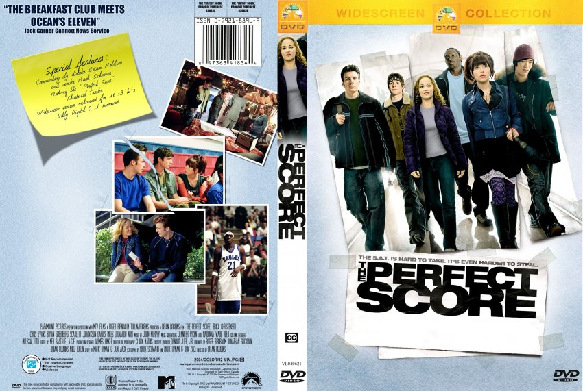 perfect score movie dvd scanned covers 10perfect score