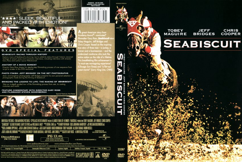 Seabiscuit dvd replacemant movie covers