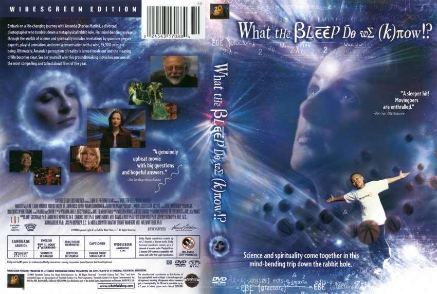 what the bleep do we know r1 movie dvd scanned covers
