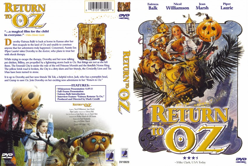 Return to OZ - Movie DVD Scanned Covers - 115Return to OZ ...