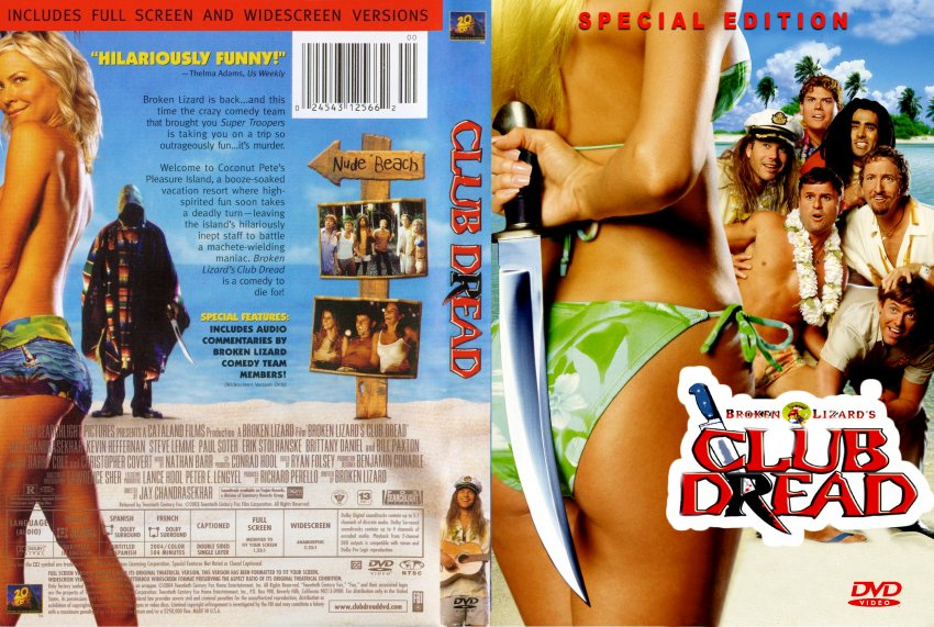 Club Dread Custom Movie Dvd Scanned Covers