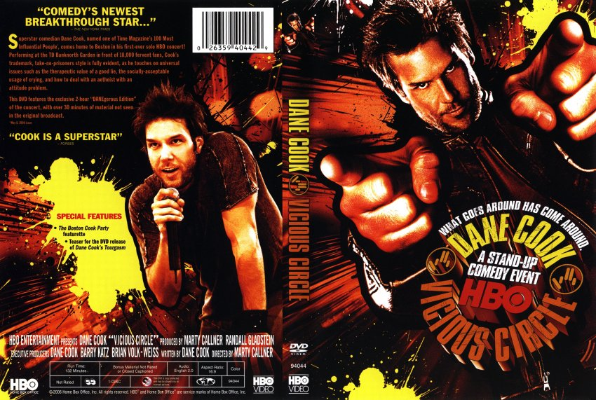 dane cook vicious circle movie dvd scanned covers
