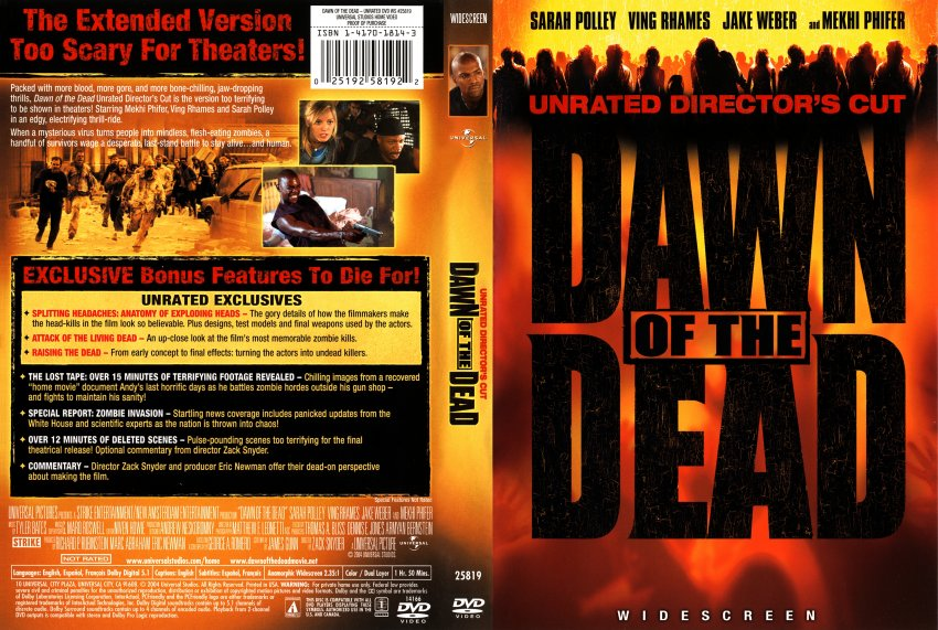Dawn of the Dead (Unrated Director's Cut) - Movie DVD ...