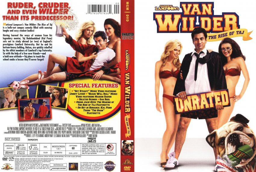 National Lampoon's Van Wilder: The Rise of Taj - Movie DVD Scanned ...