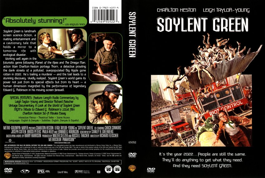 Soylent Green - Movie DVD Scanned Covers - 1322Soylent Green :: DVD Covers
