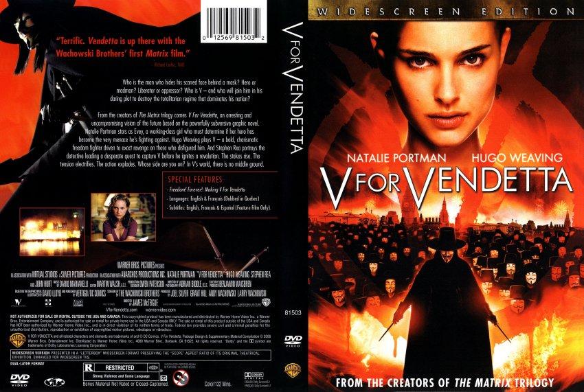 V For Vendetta Movie Cover V For Vendetta Dvd Cov...