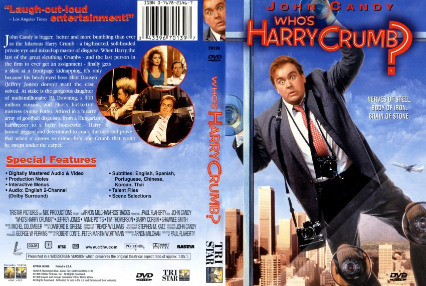 Who's Harry Crumb? - Movie DVD Scanned Covers - 1322Who s ...