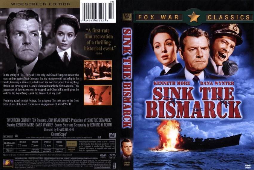 sink the bismarck movie dvd scanned covers 15sink the