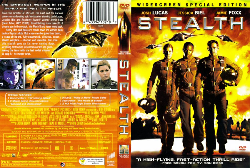 Stealth - Movie DVD Scanned Covers - 1740Stealth Cover Art ...