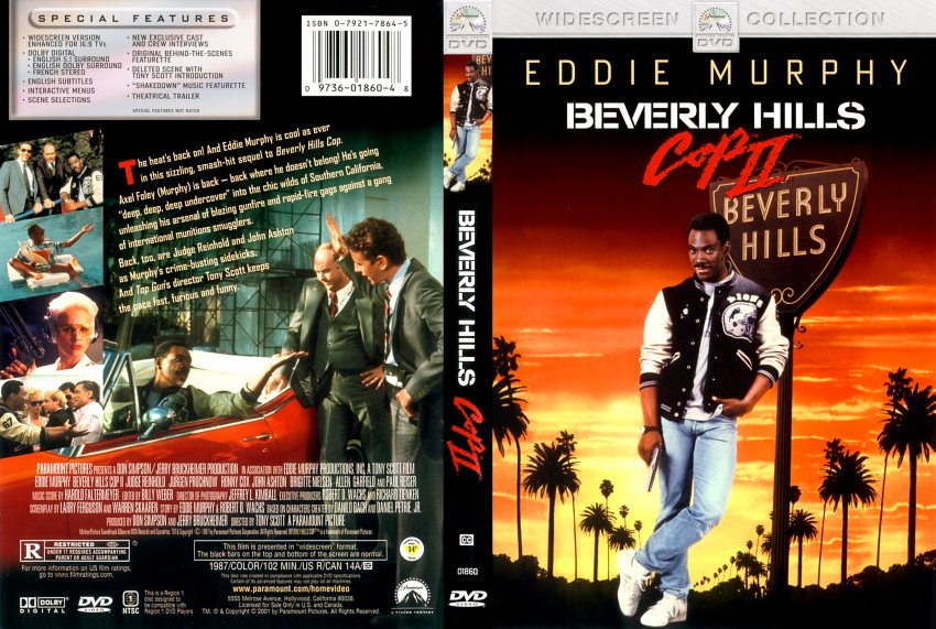 beverly hills cop 2 movie dvd scanned covers