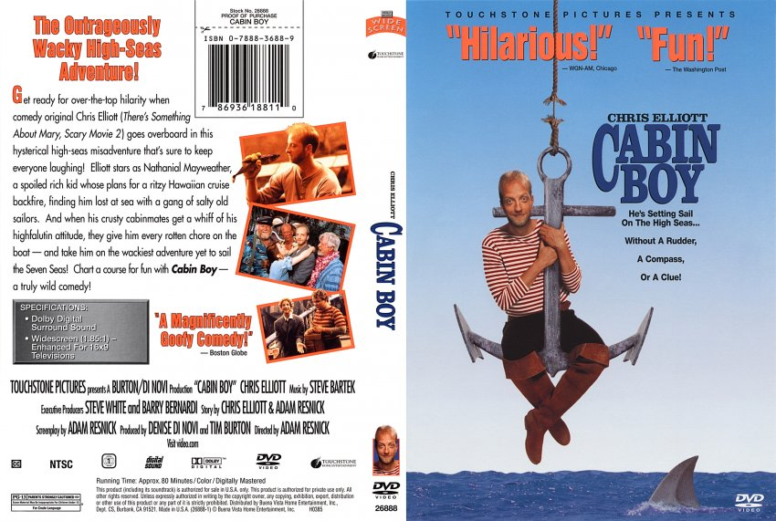 Cabin Boy Movie Dvd Scanned Covers 211cabinboy Dvd