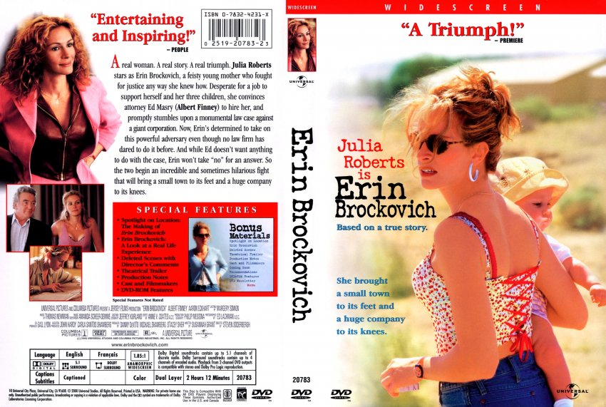 "erin brokovich 2000 movie review The movie 'erin brockovich"" (2000) by steven soderbergh is based on a true story it tells about the drama of erin brockovich's struggle against the american west coast energy giant pacific."