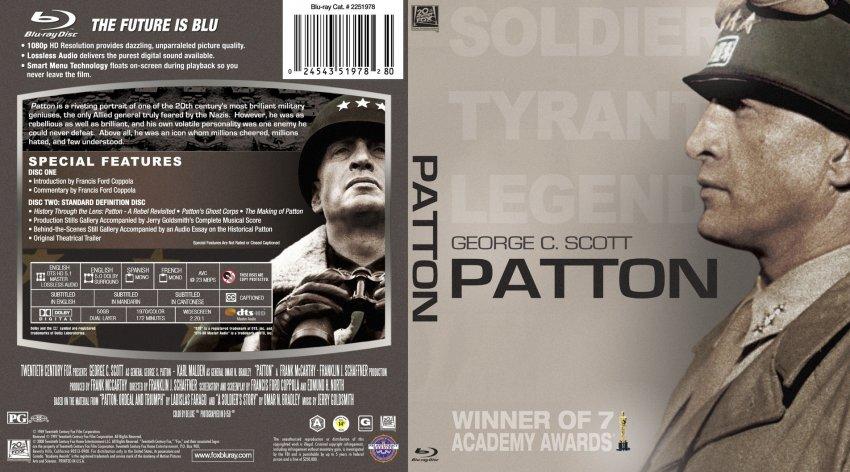 Patton - Movie Blu-Ray Custom Covers - Patton - English ...