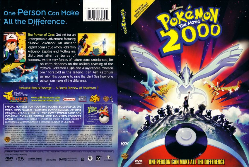Pokemon 2000 Movie Dvd Scanned Covers 211pokemon2000 Hires