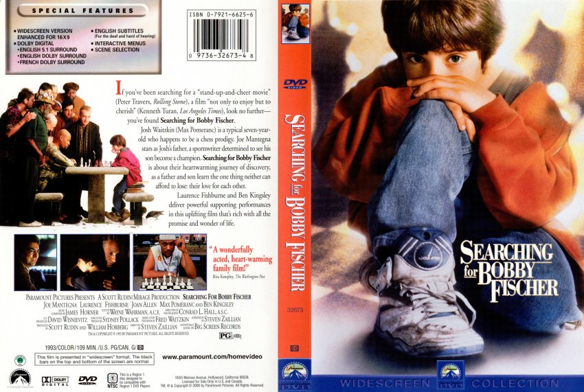 searching for bobbie fischer Available in: dvd searching for bobby fischer was inspired by the life of chess prodigy josh waitzkin, as written by his father fred waitzkin josh.
