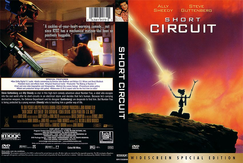 short circuit movie dvd scanned covers 211shortcircuit hires rh dvd covers org short circuit 2 movie review short circuit 2 dvd