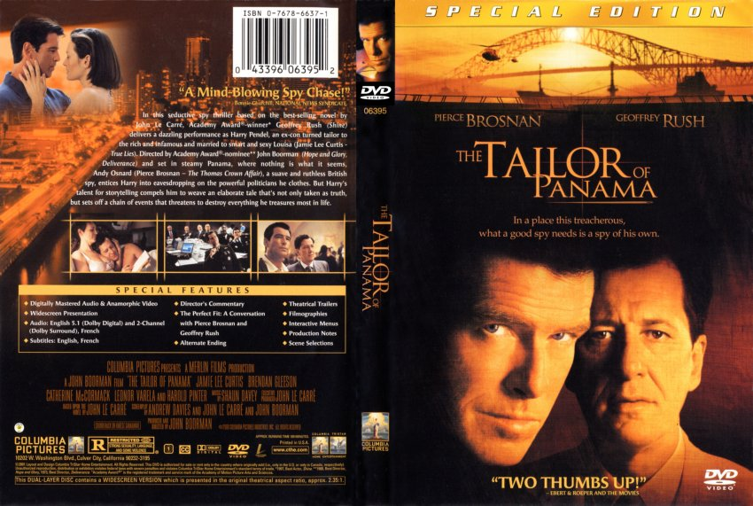 the tailor of panama movie dvd scanned covers