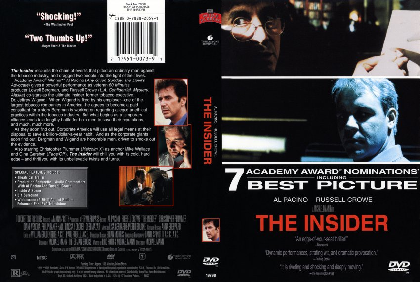 analysis of the movie the insider How to write literary analysis suggested essay topics sample a+ essay how to cite this sparknote more help buy the print the outsiders sparknote on bncom.