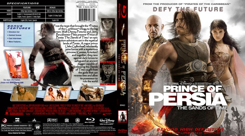 Prince Of Persia The Sands Of Time Movie Blu Ray Custom Covers Prince Of Persia The Sands Of Time English Custom Bluray Macd F2 Dvd Covers