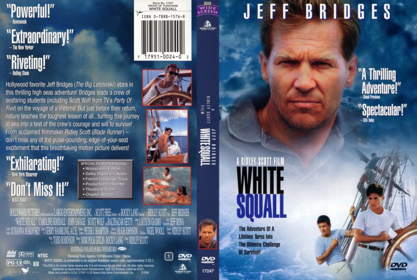 a review of the movie the white squall White squall is the true story of a ship school called the albatross the school is run by the captain download white squall movie best movies of the month.