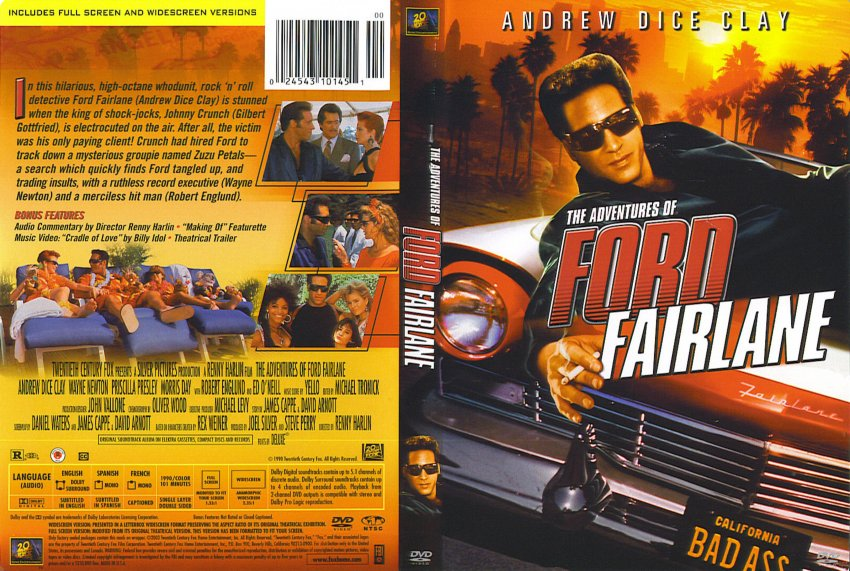 Adventures Of Ford Fairlane Scan Movie Dvd Scanned