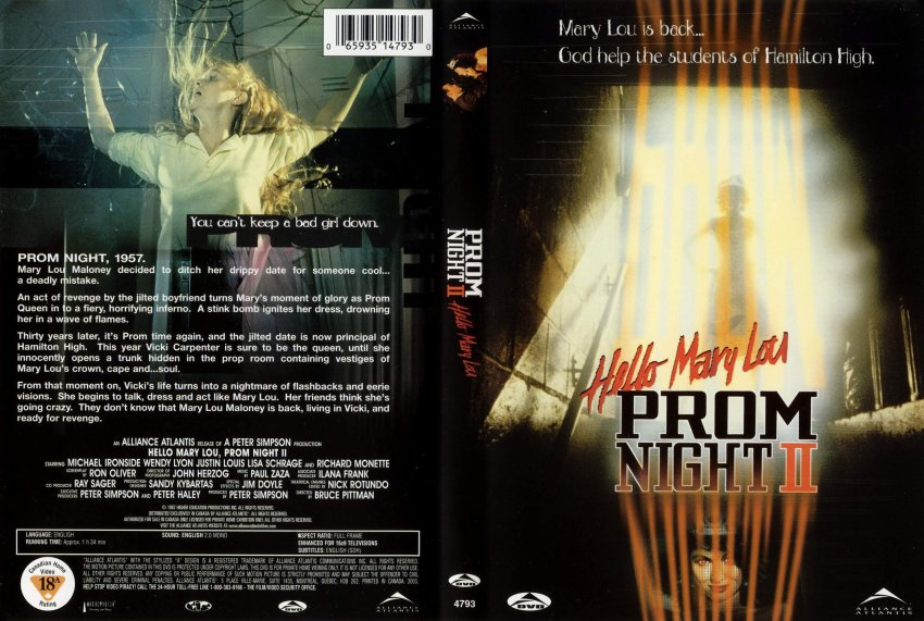 Prom night 2 scan movie dvd scanned covers 2168prom night 2 scan