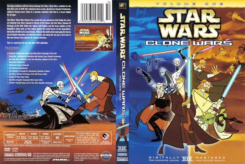 Star Wars The Clone Wars Dvd Cover Star Wars Clone Wars Volume 1