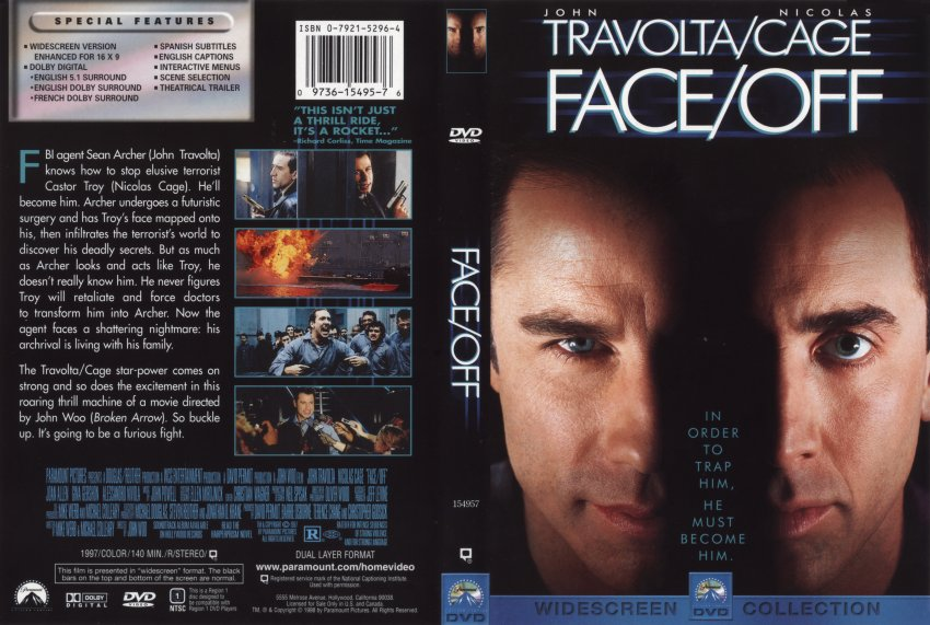 Face off movie poster