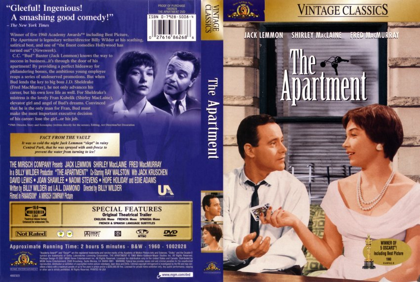 The Apartment Movie Dvd Scanned Covers 219apartment Dvd Covers