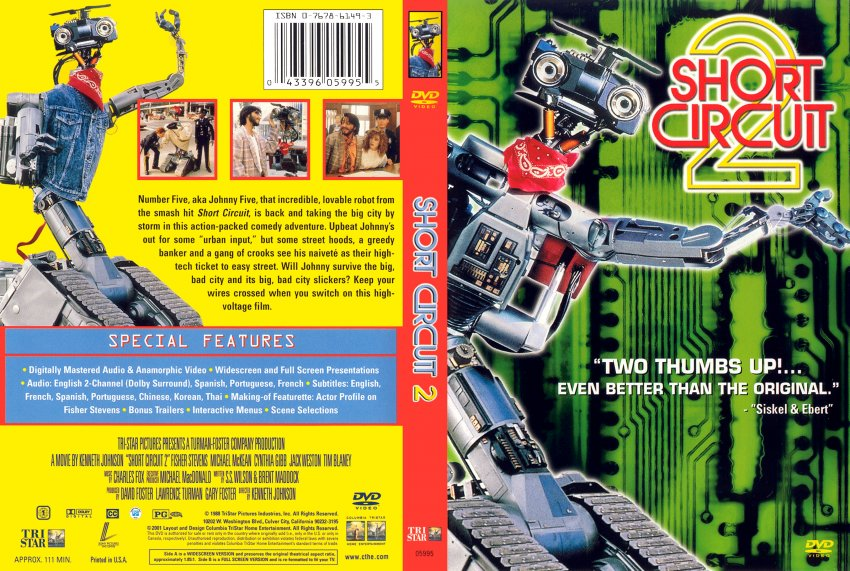 short circuit 2 movie dvd scanned covers 21shortcircuit2 scan rh dvd covers org short circuit 2 movie review short circuit 2 movie cast