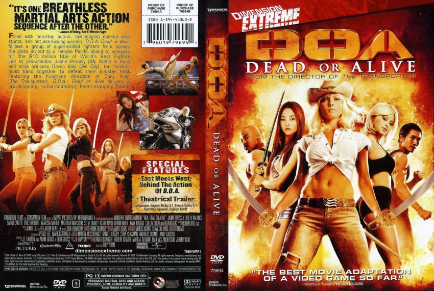Doa Dead Or Alive Movie Dvd Scanned Covers 2257d O A Dead Or