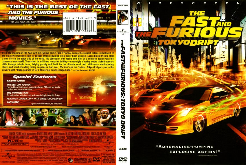 Fast And Furious 3 Full Movie >> Fast And The Furious Tokyo Drift Movie Dvd Scanned Covers
