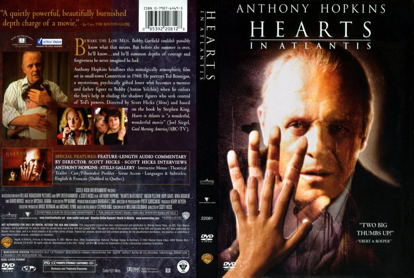 hearts in atlantis - Movie DVD Scanned Covers - 225hearts