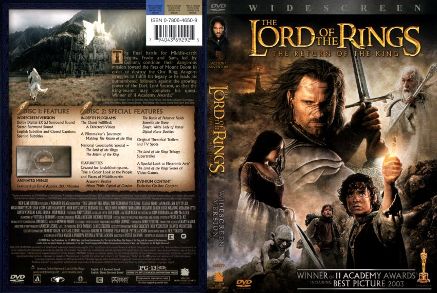 lord of the rings - return of the king - Movie DVD Scanned ...